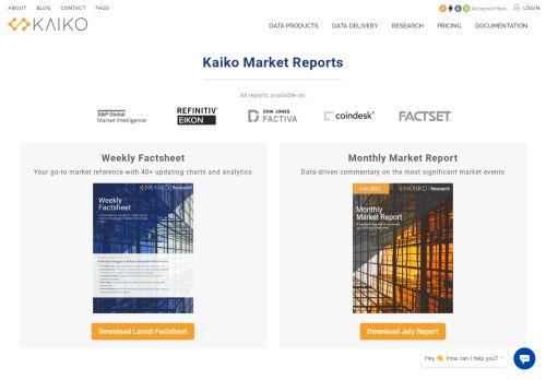Kaiko Market Reports